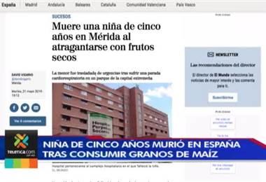 Muerte de una niña en España revive temores sobre granos y frutos que pueden comer los menores de 5 años