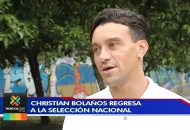 Christian Bolaños se mostró contento por su regreso a la Selección Nacional