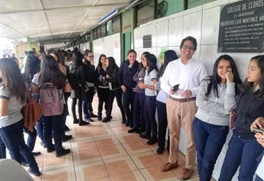 Elecciones estudiantiles en el Colegio de Cedros.