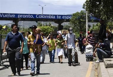 Frontera entre Colombia y Venezuela. Foto AFP