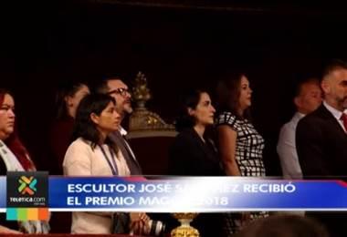 Escultor costarricense José Sancho Benito recibió Premio Nacional de Cultura Magón 2018