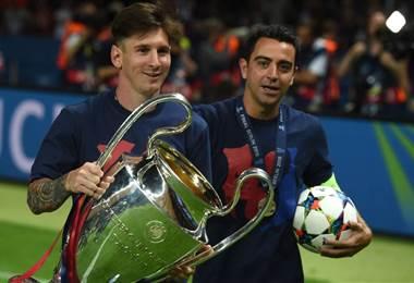 """Messi desea lo mejor a Xavi, con el que """"fue un placer compartir vestuario"""""""