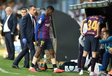 Confirmada la lesión de Dembélé, probable baja para Liverpool
