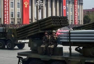 Corea del Norte probó lanzacohetes