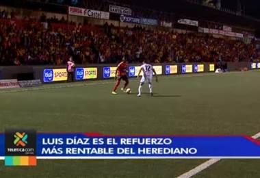Luis Díaz es el refuerzo más estable del Herediano