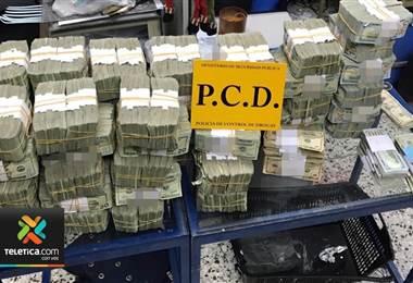 Autoridades decomisan más de ₡2.200 millones en lo que va del año por legitimación de capitales
