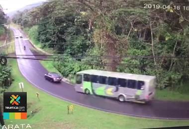 Autobús sin frenos San Carlos