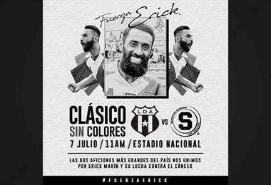 Saprissa y Alajuelense jugarán un Clásico para recaudar fondos para Erick Marín