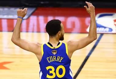 Stephen Curry de los Warriors. AFP