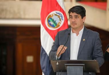 Carlos Alvarado, presidente de la República de Costa Rica.