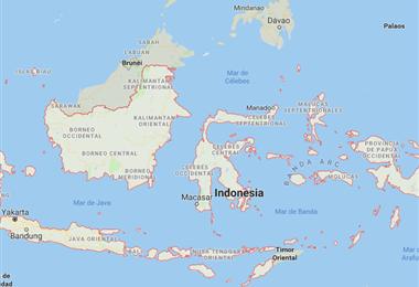 Mapa de Indonesia. Foto captura de pantalla de Google Maps