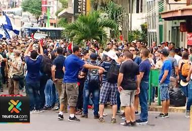 Policías y guardaparques marchan contra Ley Marco de Empleo Público