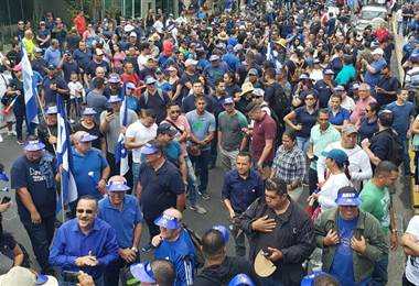 Marcha del cuerpo de policías y guardaparques