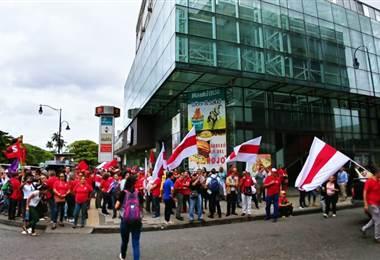 Manifestación sindicato del APSE. Foto prensa APSE