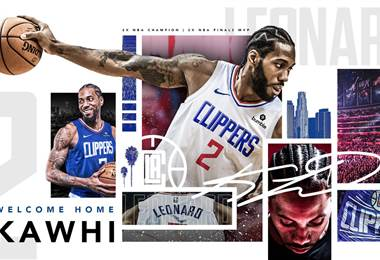 Así anunciaron los Clippers la llegada de Kawhi Leonard | Twitter