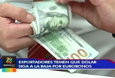Exportadores temen que el dólar siga a la baja ante la entrada de los eurobonos