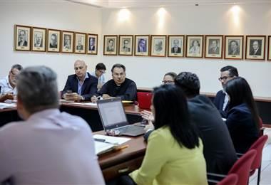 Reunión entre el Gobierno y el Encuentro Social Multisectorial  Foto Presidencia.