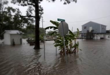 Inundaciones en Luisiana a causa de la Tormenta Barry. Foto AFP