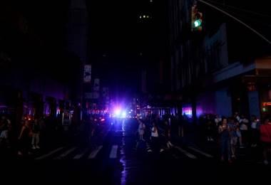 Apagón en Manhattan. Foto AFP