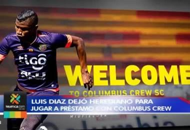 Luis Díaz jugará a préstamo con el Columbus Crew