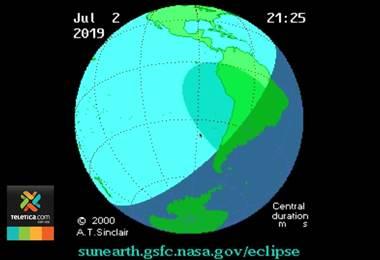 Costarricenses podrán apreciar eclipse parcial de sol si las condiciones climáticas lo permiten
