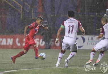 Rachid Chirino anotó el tanto de San Carlos ante Saprissa | Prensa San Carlos