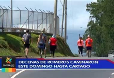 Romeros iniciaron este fin de semana su peregrinación hacia Cartago