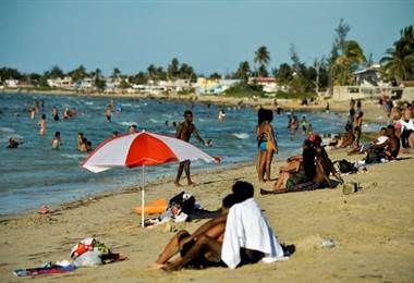 Playa en Cuba. Foto AFP