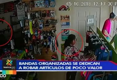 Bandas organizadas se dedican a robar artículos de poco valor