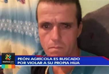 Peón agrícola es buscado por violar a su propia hija en Quepos