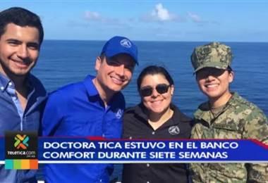 Doctora del Hospital de Grecia estuvo a bordo del barco Confort durante siete semanas