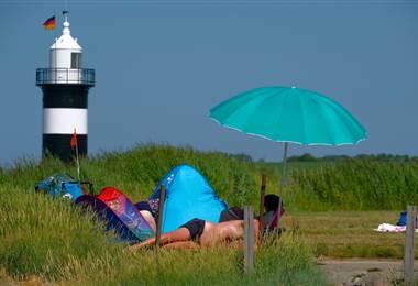 Calor afecta a Alemania. AFP