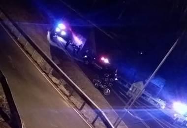Imagen de balacera en Tres Ríos.
