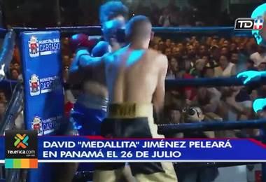 David 'Medallita' Jiménez peleará este 26 de julio en Panamá
