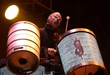 Slipknot en concierto. AFP