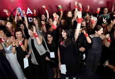 Mujeres del cine mexicano en el Premio Ariel. Foto AFP