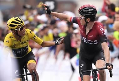 Geraint Thomas y Egan Bernal en el Tour de Francia
