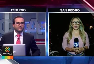 Bloqueo en circunvalación sentido San Pedro-Sabanilla