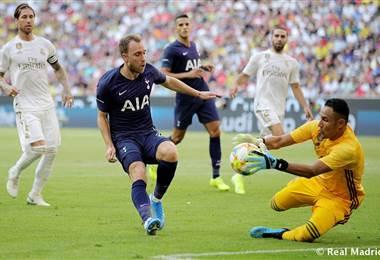 Keylor Navas ante el delantero del Tottenham, Harry Kane | realmadrid.com