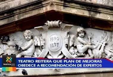 Autoridades del Teatro Nacional reitera que plan de mejoras obedece a recomendación de expertos