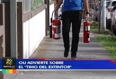 OIJ advierte sobre 'el timo del extintor'