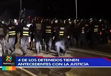 Cuatro de los diez detenidos durante las manifestaciones cuentan con antecedentes policiales