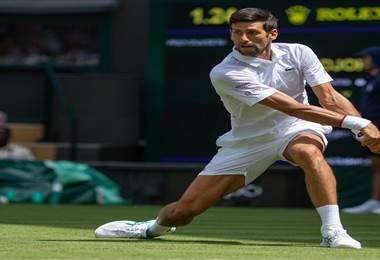 Novak Djokovic durante el Wimbledon 2019 | Wimbledon en Twitter