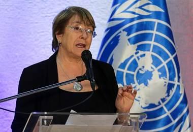 Michelle Bachelet, Comisionada de la ONU. Foto AFP