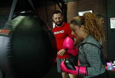 Cindy Villalta entrena kick boxing para recuperar su cuerpo después del embarazo