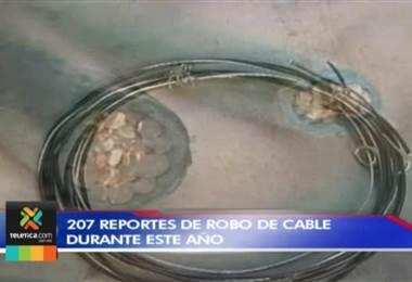 En los primeros 8 meses de este año se dieron 207 reportes de robo de cable en todo el país