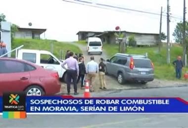 Sospechosos de robar combustible en Moravia estarían vinculados con grupos delictivos de Limón