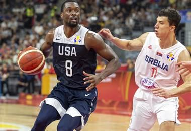 Estados Unidos volvió a caer ante Serbia | AFP