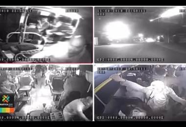 Cámara de bus captó momento cuando fue baleado en Desamparados
