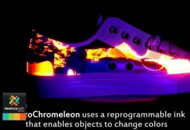 Crean tinta que puede cambiar de color y de patrón cuando es expuesta a la luz